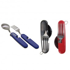 Foldable Fork and Spoon Set With Pouch