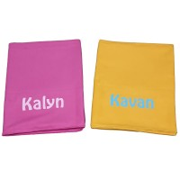 Microfibre Bath Towel In Pouch with Personalised Names