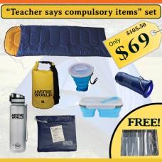 """Teacher says compulsory items"" set"